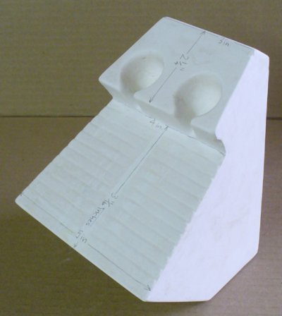 Flow tester original plaster model angle view
