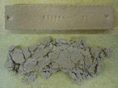 What happens when a limestone clay mix is fired to cone 6?