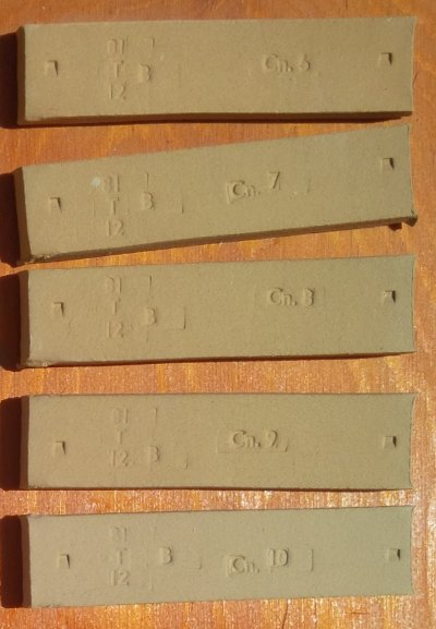 Jordan Fireclay fired test bars