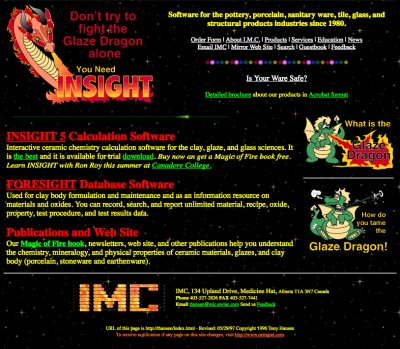 Here is what digitalfire.com looked like in 1997!