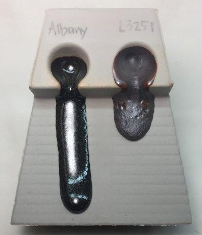 Melt fluidity of Albany Slip vs. Arroyo Slip at cone 10R