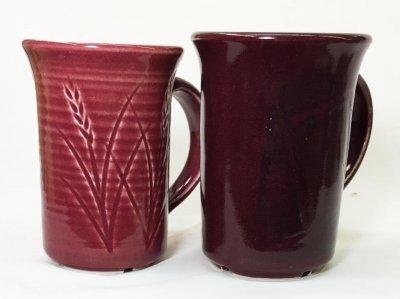 The same glaze on a very white porcelain (left) vs. a buff stoneware