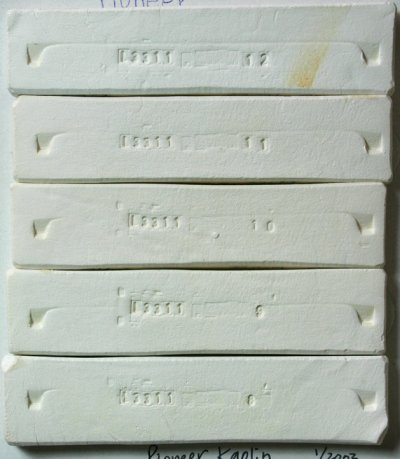 Fired test bars of Pioneer Kaolin
