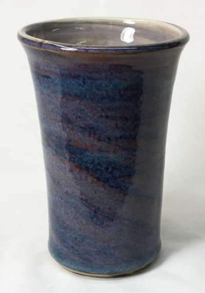 Marbled cone 6 clays with rutile blue glaze