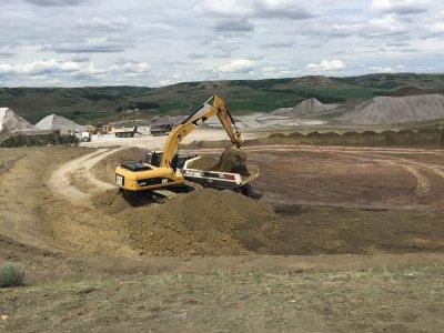 Mining the Battle Formation in our quarry at Ravenscrag, Saskatchewan - June 2018