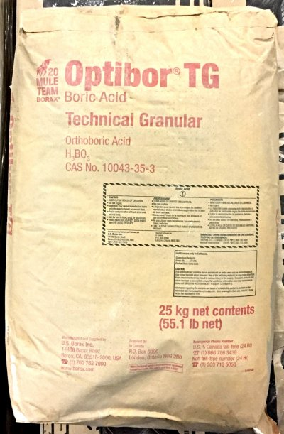 Original Container Bag of Boric Acid