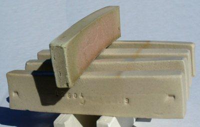 Test bar made from 20% bentonite and 80% calcium carbonate