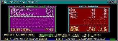 Digitalfire Insight 4.1 running on DOS cerca 1983