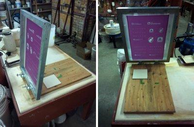 Silk screening using a professionally made screen