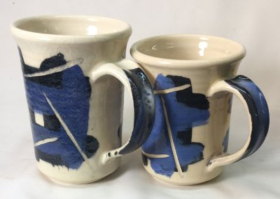 Original glaze with Gerstley Borate vs. fixed version with frit