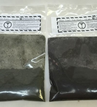 Two different shipments of a cobalt free black stain. Why different colors?