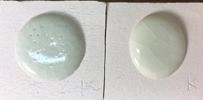 G2931F Ulexite-based transparent bubbles, G2931K frit-based version does not
