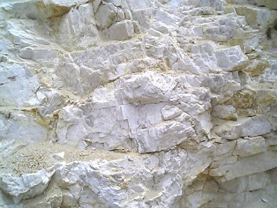Stockpile of crude feldspar from MGK Minerals (India) deposit