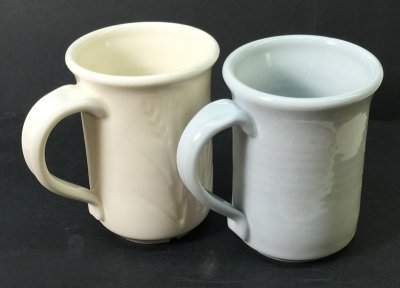 Could oxidation porcelain look like reduction blue porcelain?