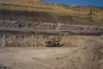 IXL Industries clay quarry near Ravenscrag, Saskatchewan in 1984.