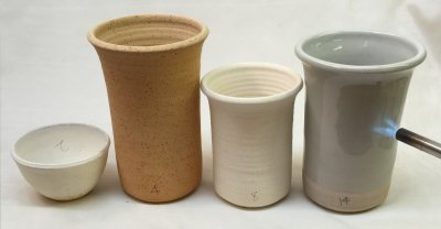 Stoneware mug endures thermal shock better than kaolin or ball clay