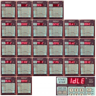 Manually programming a typical electric hobby kiln electronic controller