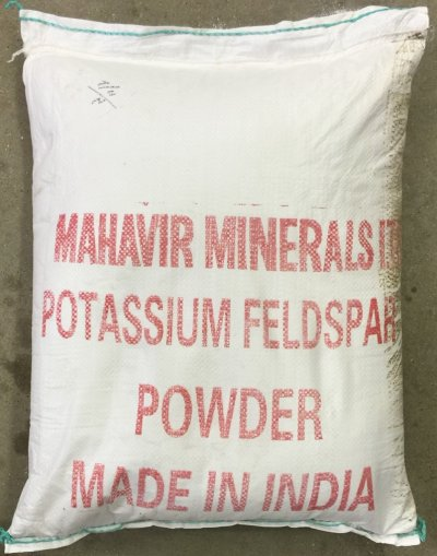 Original container bag of Mahavir Feldspar