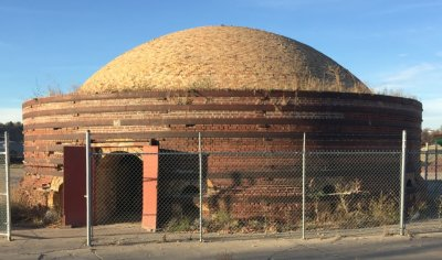 Salt glaze beehive kiln beside the Plainsman Clays plant