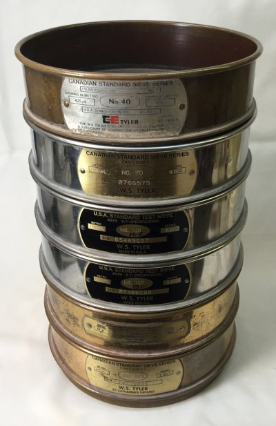 A root-of-two series of test sieves