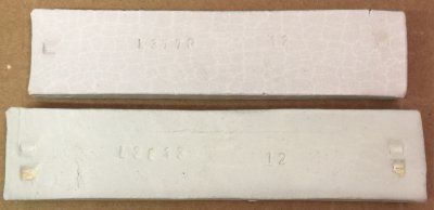 EPK fired bar (top) vs Grolleg at cone 10R. Why shrinking more?