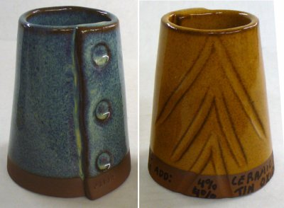 What tin oxide does to this Floating Blue cone 6 glaze