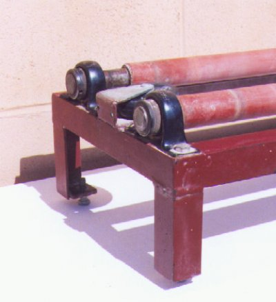 Make your own ball mill rack - Front side