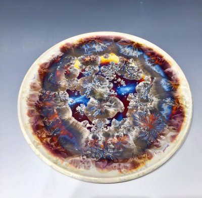 Crystalline plate made by Holly McKeen.