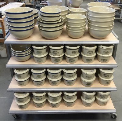 M340 cone 6 bowls and casseroles made at Medalta Potteries