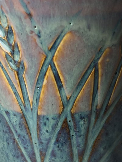 Rutile blue reactive glazes do not refire well