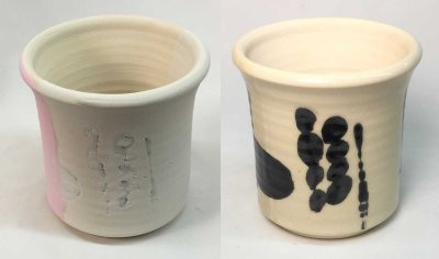 Underglaze resisted coverage of dipping glaze yet heals during firing