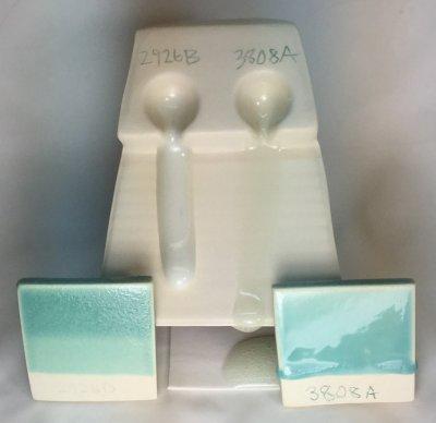 Copper oxide needs a fluid-melt transparent to produce a glossy glaze